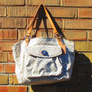COACH Bag White & Grey